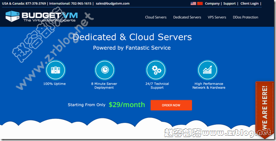 BudgetVM洛杉矶服务器1Gbps无限流量,首月5折41.94美元起
