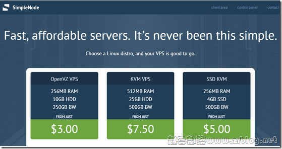 SimpleNode:$25/年KVM-512MB/15GB/1TB 达拉斯