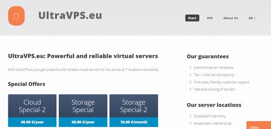 UltraVPS.eu:€3.33/月KVM-4GB/100GB/5TB/荷兰/德国