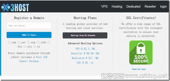 X3host:$7/年OpenVZ-256MB/15GB/无限流量 凤凰城