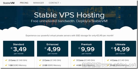 StableVM:$3.65/月OpenVZ-4GB/15G SSD/无限 法国