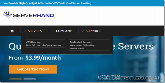 【已跑路】ServerHand:$2.5/月KVM-512MB/15G SSD/100GB 新泽西