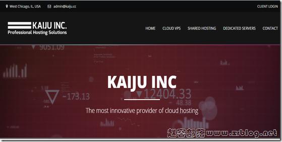 Kaiju:$3/月KVM-1GB/20GB/5TB 芝加哥