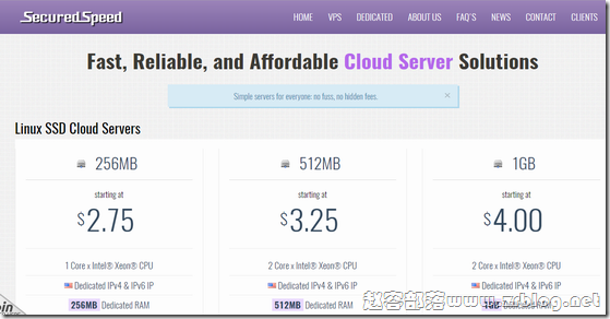 SecuredSpeed:$3.4/月OpenVZ-1GB/30GB/1TB 洛杉矶&迈阿密