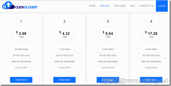 ClickCloudit:$2.88/月KVM-768MB/20GB/1TB 法国&加拿大