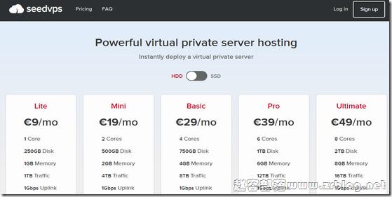 SeedVPS:€9/月KVM-2GB/20G SSD/2TB 荷兰