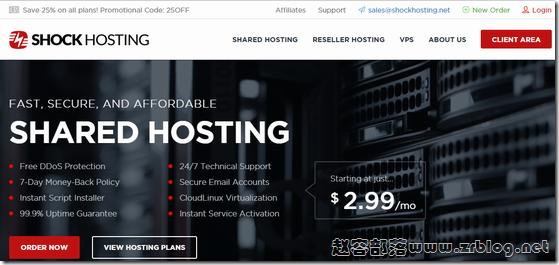 ShockHosting全场VPS五折,2G内存套餐$5/月起,可选大硬盘