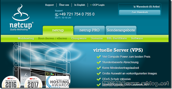 NetCup:€2.69/月KVM-2GB/20G SSD/40TB 德国