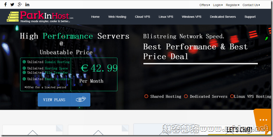 Parkinhost:€4.99/月OpenVZ-512MB/10GB/无限 俄罗斯
