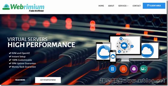 Webrimium:$3.5/月KVM-256MB/5G SSD/1TB 北卡
