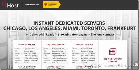 [服务器]GTHost:$59/月-E3-1265Lv3/16GB/1TB/200M无限 洛杉矶