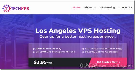 TechVPS:$9/年KVM-512MB/10GB/1TB 洛杉矶