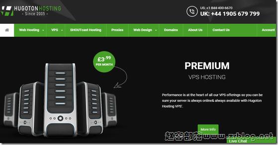 HugotonHosting:£4.49/月KVM-1GB/80GB/无限流量 德国