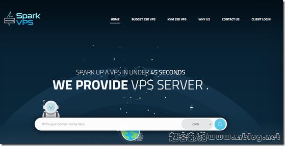 SparkVPS:$4/月KVM-1GB/30G SSD/2TB 达拉斯