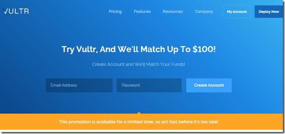 VULTR新用户送50美元