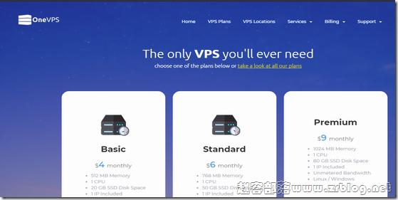 OneVPS:$4/月KVM-512MB/20GB/无限流量 七数据中心