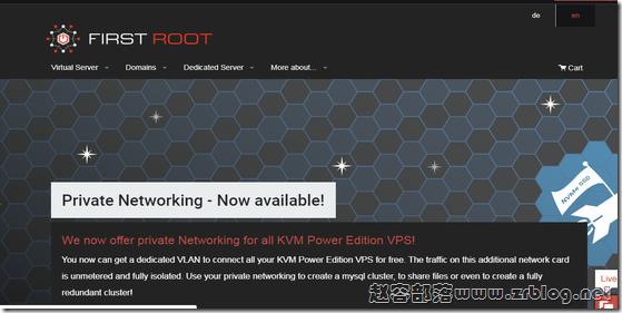 First-root:€2.5/月KVM-1GB/40G SSD/5TB 德国