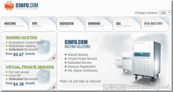 Cinfu:首付5折1.95欧元/KVM/OpenVZ/德国/美国/保加利亚/法国/荷兰