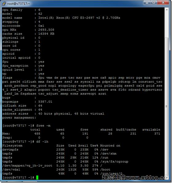 Justhost:Dataline线路KVM简单测试