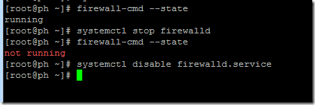 CentOS7防火墙查看、打开和关闭