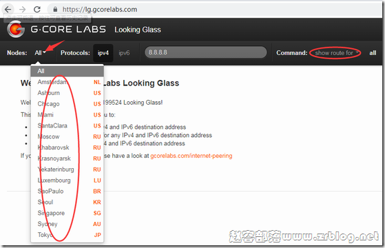 Gcore如何查看测试IP信息