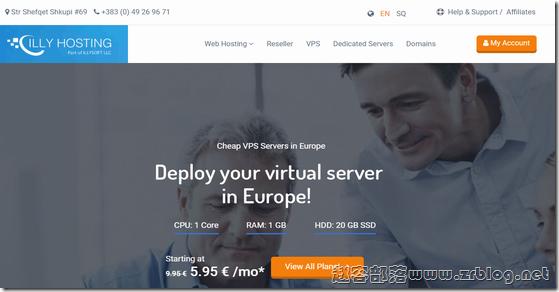 ILLYHosting:€1/首月KVM-1GB/20GB/5TB/科索沃