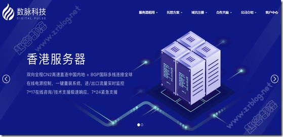 数脉科技:365元/月-E3 1230v2/16GB/1TB/10M/3IP/香港服务器