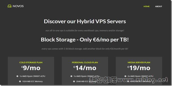 Novos:€8/月KVM-2GB/40G NVMe+1TB/25TB/比利时
