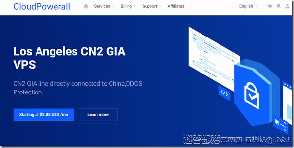 CloudPowerall:洛杉矶/香港CN2 GIA年付24.99美元起