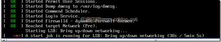 CentOS启动出现Failed to start LSB: Bring up/down networking的解决方法