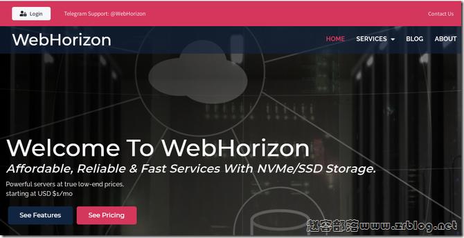 WebHorizon:$10.56/年-256MB/5G SSD/200GB/日本VPS